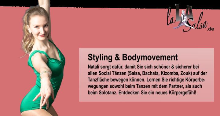 Natali von LaLASalsa.de mach Styling und Bodymovement